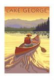 Lake George, California - Canoe Scene Posters by  Lantern Press