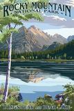 Longs Peak and Bear Lake Summer- Rocky Mountain National Park Reprodukcje autor Lantern Press