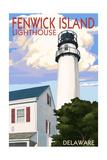 Fenwick Island, Delaware - Lighthouse Poster