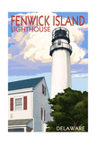 Fenwick Island, Delaware - Lighthouse Poster by  Lantern Press