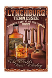 Lynchburg, Tennessee - Whiskey Vintage Sign Print by  Lantern Press