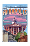 Annapolis, Maryland - Montage Posters by  Lantern Press