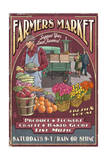Farmers Market Vintage Sign Poster by  Lantern Press