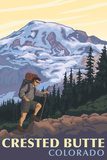 Crested Butte, Colorado - Mountain Hiker Posters by  Lantern Press