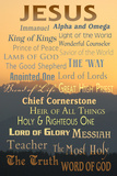 Names of God - Inspirational Plakaty autor Lantern Press