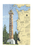 Astoria Column, Oregon - Nautical Chart Art by  Lantern Press