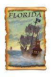 Florida - Pirate Ship Art by  Lantern Press