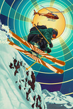 Heli-skiing Prints by  Lantern Press