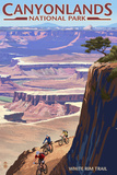 Canyonlands National Park, Utah - Conflunce and Bikers Poster by  Lantern Press
