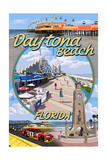 Daytona Beach, FL - Daytona Beach Montage Posters by  Lantern Press