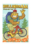 Bellingham, Washington - Bigfoot Bicyle Posters by  Lantern Press