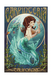 Carpinteria, California - Mermaid Poster by  Lantern Press