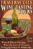 Traverse City, Michigan - Wine Tasting Vintage Sign Plakaty autor Lantern Press