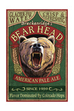 Breckenridge, Colorado - Bear Head Pale Ale Vintage Sign Prints by  Lantern Press