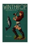 Winthrop, Washington - Pinup Girl Fishing Posters by  Lantern Press