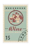 Tasting Room Stamp Art by  Lantern Press