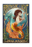 Barnegat Light, New Jersey - Mermaid Art by  Lantern Press