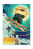 Vail, Colorado - Heli-Skiing Posters by  Lantern Press