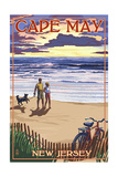 Cape May, New Jersey - Beach and Sunset Prints by  Lantern Press