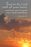 Lantern Press - Proverbs 3:5 - Inspirational Obrazy