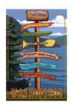 Tacoma, Washington - Signpost Destinations Posters by  Lantern Press