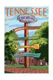 Lynchburg, Tennessee - Sign Destinations Prints by  Lantern Press