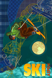 Aspen, Colorado - Timelapse Skier Print by  Lantern Press