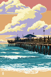 Pier and Sunset Prints by  Lantern Press