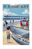 Pt. Pleasant Beach, New Jersey - Lifeguard Stand Posters by  Lantern Press