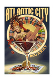 Atlantic City, New Jersey - Pinup Showgirl Posters by  Lantern Press