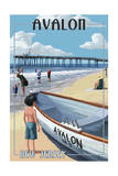 Avalon, New Jersey - Lifeboat Posters by  Lantern Press
