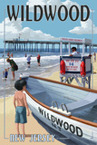 Wildwood, New Jersey - Lifeguard Stand Poster by  Lantern Press