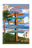 Hilton Head Island, South Carolina - Destination Signs Posters by  Lantern Press