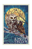 Joseph, Oregon - Owl and Owlet Print