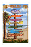 Destination Sign - Charleston Harbor Resort Art by  Lantern Press