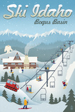Bogus Basin, Idaho - Retro Ski Resort Posters by  Lantern Press