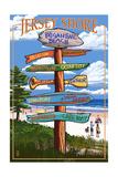 Brigantine Beach, New Jersey - Destinations Signpost Posters by  Lantern Press