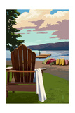 Adirondack Chairs Posters by  Lantern Press