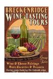 Breckenridge, Colorado - Wine Tasting Vintage Sign Art by  Lantern Press