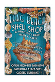 Long Beach, Washington - Shell Shop Vintage Sign Prints by  Lantern Press