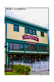 Port Gamble, Washington - General Store Print by  Lantern Press