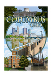 Columbus, Ohio - Montage Scenes Prints by  Lantern Press