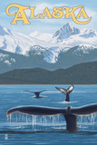 Alaska - Humpback Whale Family Prints by  Lantern Press