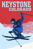 Keystone, Colorado - Colorblocked Skier Posters by  Lantern Press