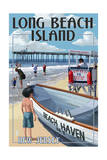 Beach Haven, New Jersey - Lifeguard Stand Posters by  Lantern Press