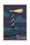 Big Sur, California - Lighthouse Letter Press Prints by  Lantern Press