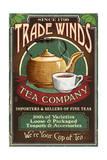 Tea Shop - Vintage Sign Kunstdrucke von  Lantern Press