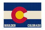 Boulder, Colorado - Colorado State Flag Prints