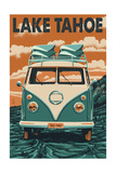 Lake Tahoe - VW Van Poster by  Lantern Press