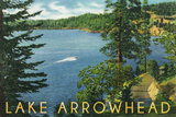 Lake Arrowhead, California - View towards the North Shore Prints by  Lantern Press